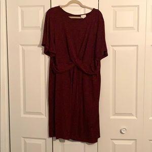 Plus size women's Ava & Viv burgundy wrap Dress